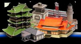 Макеты домов из бумаги